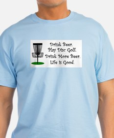 Drink Beer Play Disc Golf Light Color T