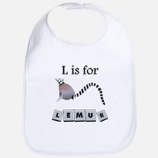 L Is For Lemur Bib