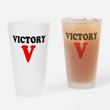 VICTORY V Drinking Glass