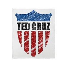 Ted Cruz Patriot Shield Throw Blanket