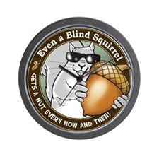 Blind Squirrel Wall Clock