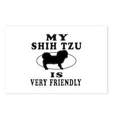 My Shih Tzu Is Very Friendly Postcards (Package of