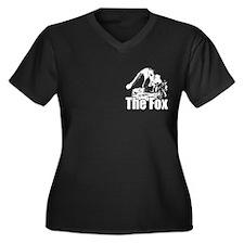 The Fox Women's Plus Size V-Neck Dark T-Shirt