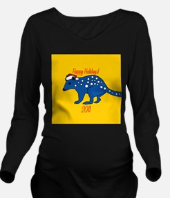 Quolls Holiday Long Sleeve Maternity T-Shirt