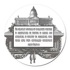 Milton Friedman on Civilization 2 Round Car Magnet