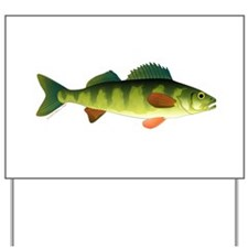 Yellow perch 2 Yard Sign