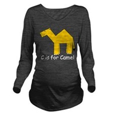 Camel10.png Long Sleeve Maternity T-Shirt