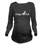 Grape Cat Long Sleeve Maternity T-Shirt