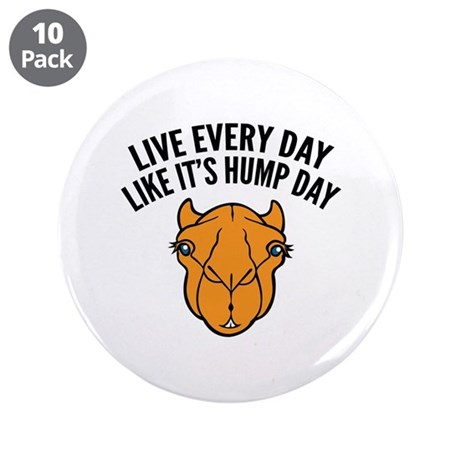 "Live Every Day Like It's Hump Day 3.5"" Button (10"