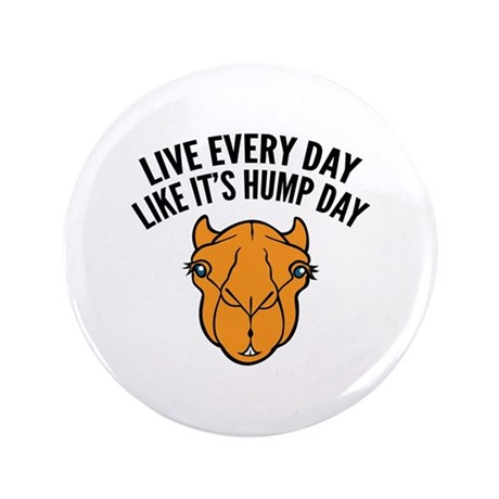 "Live Every Day Like It's Hump Day 3.5"" Button (100"