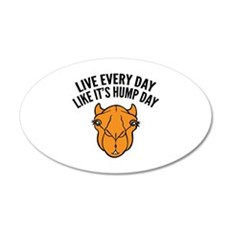 Live Every Day Like It's Hump Day 22x14 Oval Wall