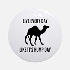 Live Every Day Like It's Hump Day Ornament (Round)