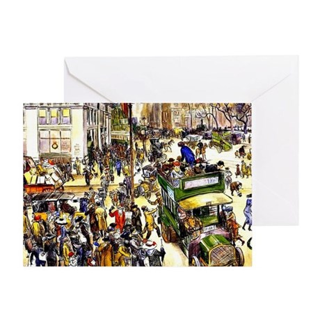 Christmas Shoppers - James Glackens Greeting Card