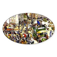 Christmas Shoppers - James Glackens Decal