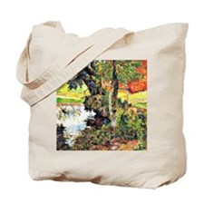 Gauguin - Red Roof by the Water Tote Bag