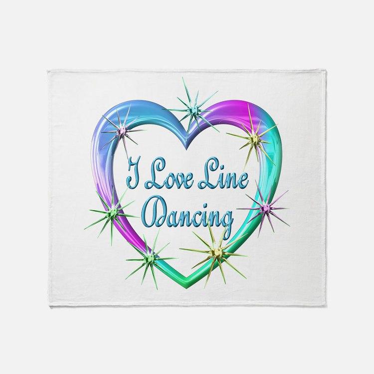 I Love Line Dancing Throw Blanket