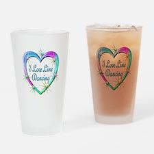 I Love Line Dancing Drinking Glass