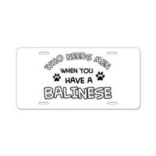 Cool Balinese designs Aluminum License Plate