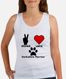 Peace Love Yorkshire Terrier Tank Top