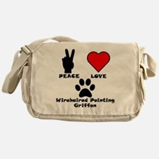 Peace Love Wirehaired Pointing Griffon Messenger B