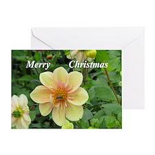 Yellow Dahlia Greeting Cards