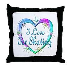 I Love Ice Skating Throw Pillow