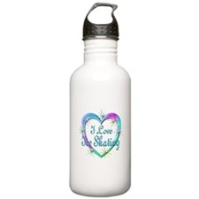 I Love Ice Skating Water Bottle
