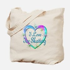 I Love Ice Skating Tote Bag