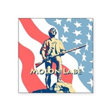 "Molon Lane Minute Man Square Sticker 3"" x 3"""