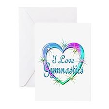 I Love Gymnastics Greeting Cards (Pk of 20)