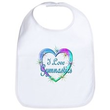 I Love Gymnastics Bib