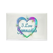 I Love Gymnastics Rectangle Magnet (10 pack)