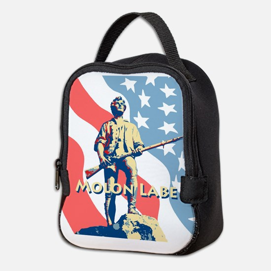 Molon Labe Minute Man Neoprene Lunch Bag