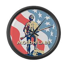 Molon Labe Minute Man Large Wall Clock