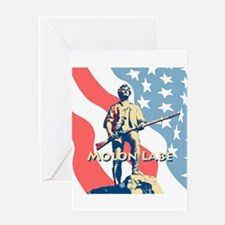 Molon Labe Minute Man Greeting Card
