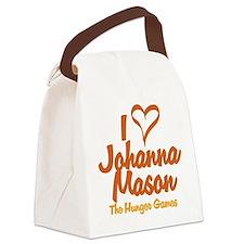 I Heart Johanna Canvas Lunch Bag