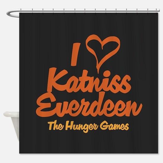 I Heart Katniss Shower Curtain