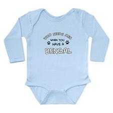 Cool Bengal designs Long Sleeve Infant Bodysuit