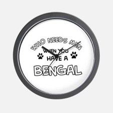 Cool Bengal designs Wall Clock