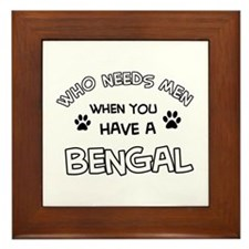 Cool Bengal designs Framed Tile