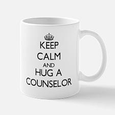 Keep Calm and Hug a Counselor Mugs