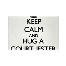Keep Calm and Hug a Court Jester Magnets