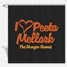 I Heart Peeta Shower Curtain