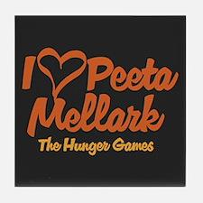 I Heart Peeta Tile Coaster