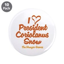 "I Heart President Snow 3.5"" Button (10 pack)"