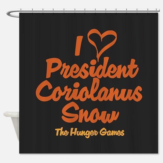 I Heart President Snow Shower Curtain