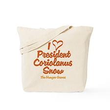 I Heart President Snow Tote Bag