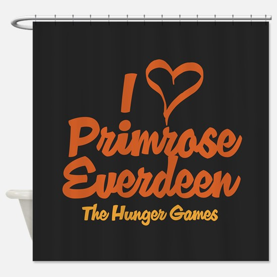 I Heart Primrose Shower Curtain
