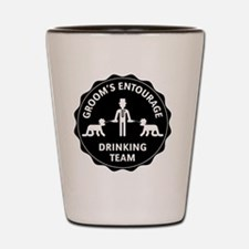 Groom's Entourage – Drinking Team Shot Glass