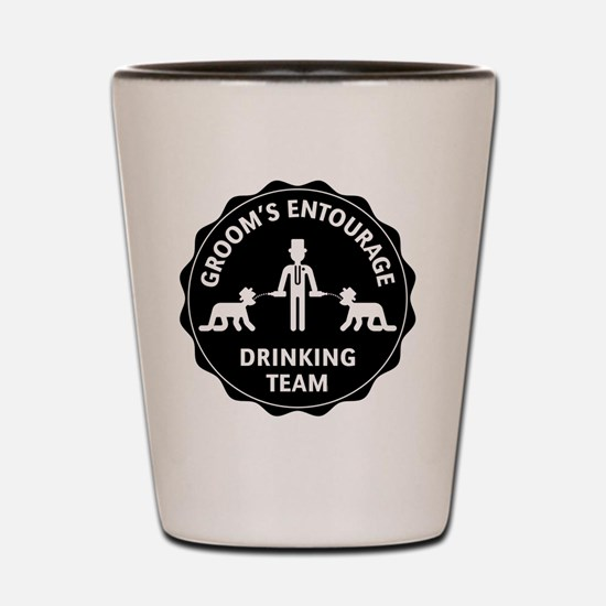 Groom's Entourage – Drinking Team Shot Glass